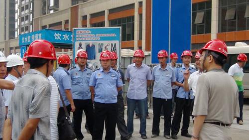 2013年中央领导到奉节滨江国际在建工程指导工作