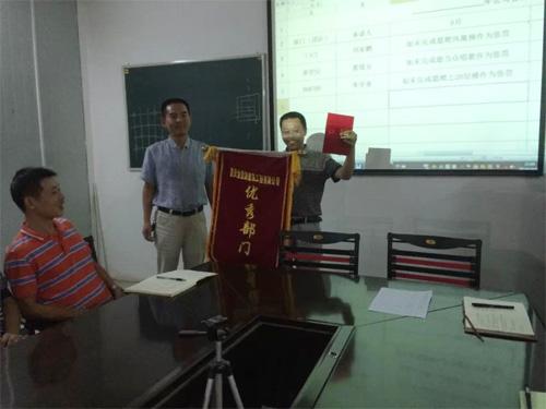 优秀B678项目部连续两月团队PK中荣获第一名